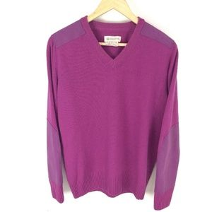 Beretta Purple Vintage Wool Sweater W/ Suede Patch
